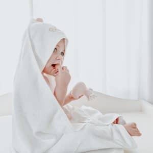 BABY TOWEL POMPOM PINK