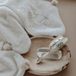 BABY TOWEL POMPOM BEIGE